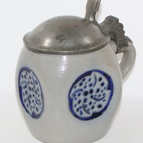 Richard Riemerschmid 新艺术派啤酒壶设计1902年,型号为1741。美丽的条件。高:10,5厘米。 D