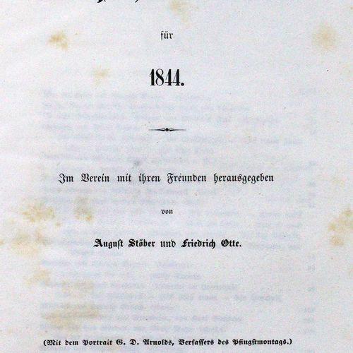 Elsässische Neujahrsblätter. Jgge. 1843 48 en 6 volumes. Ed. Par A. Stöber et F.…