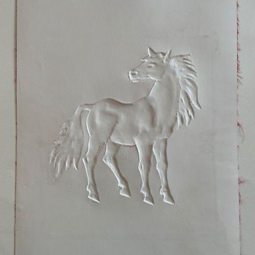 BRAYER Yves (1907 1990) [Mon cheval est un empire]. Paris ca. 1970. Impression e…