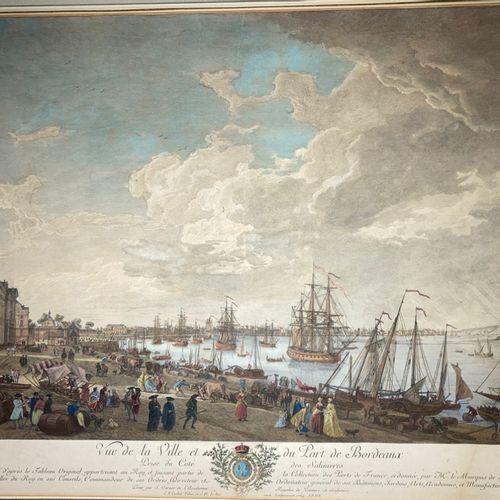 VERNET Joseph (1714 1789) (d'après) 2 PORTS DE VERNET (BORDEAUX & TOULON) Titres…