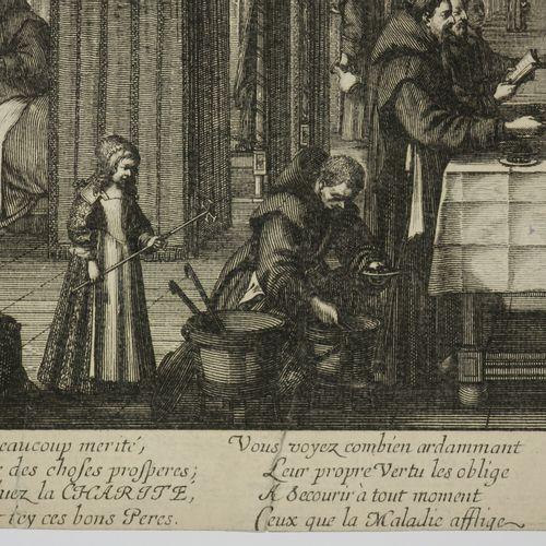 """BOSSE Abraham (Tours 1602 Paris 1676) """"L'Infirmerie de l'Hospital de la charité …"""