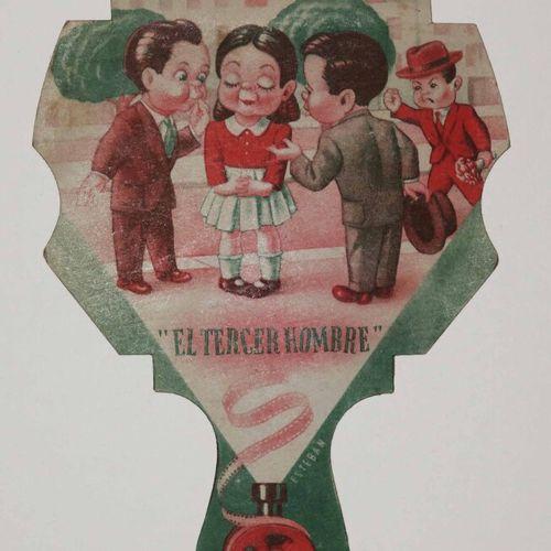 """ECRAN XIXEME """"El tercer hombre / CINELANDIA"""", pour le Bar """"La Bodega"""". 17 x 12 c…"""