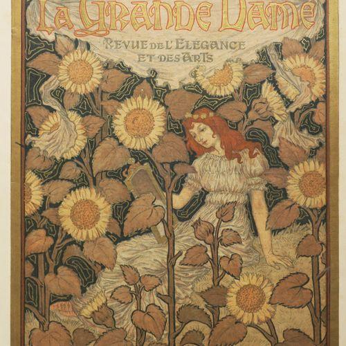 """GRASSET Eugène (Lausanne 1845 Sceaux 1917) (D'après) """"La Grande Dame, Frontispic…"""