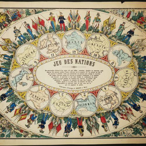 JEU DES NATIONS. Les 4 CONTINENTS. C.1880. De la Fabrique d'Images P. DIDION, à …