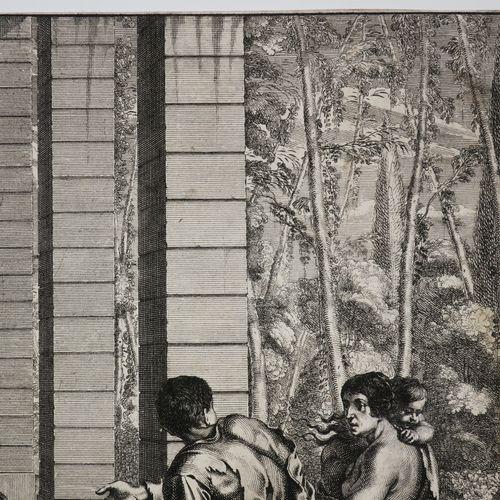 """BOSSE Abraham (Tours 1602 Paris 1676) """"Vestir les nuds"""". C.1635. Gravure origina…"""