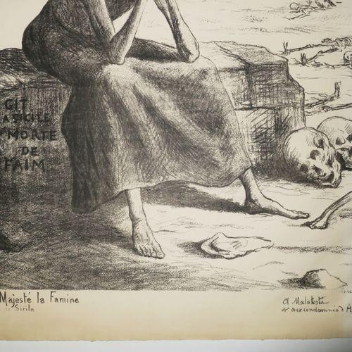 """ALLÉGORIE DE LA MORT LUCE M. """"Sa Majesté la Famine, Reine de Sicile (A Malatesta…"""