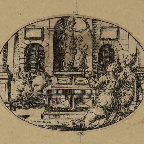 """DELAUNE Etienne (Paris ou Orléans c.1518 Strasbourg c.1583) """"Sujets variés"""". Sui…"""
