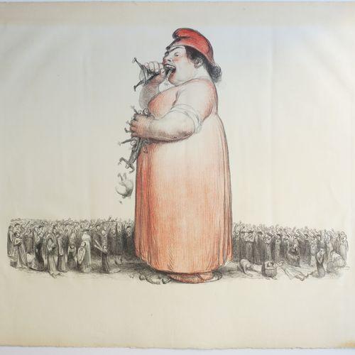 """VEBER Jean (Bordeaux 1758 Paris 1836) """"L'Ogresse"""". C.1909. Lithographie original…"""