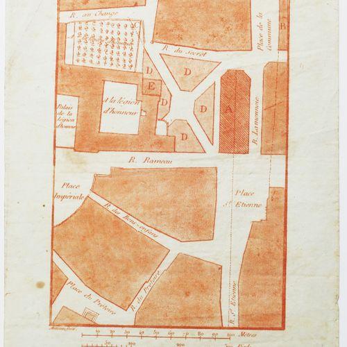 """CÔTE D'OR (21) DIJON """"Plan de l'emplacement du Théâtre projeté sur le terrain de…"""