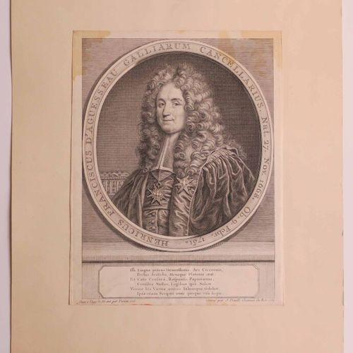 """DAULLE Jean (Abbeville 1703 1763) PORTRAIT de """"Henri François d'Aguesseau (1668 …"""