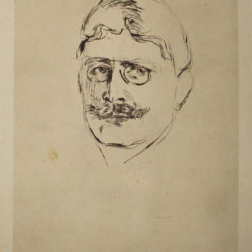 MUNCH Edvard (d'après) (Suède 1863 Oslo 1944) (Portrait de l'écrivain norvégien)…