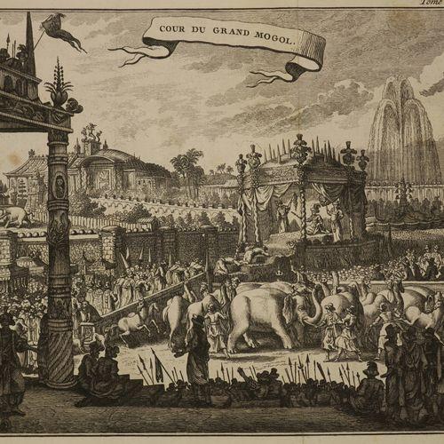"""INDE """"COUR DU GRAND MOGOL"""". C.1780. Gravé à l'eau forte et au burin. Epreuve sur…"""