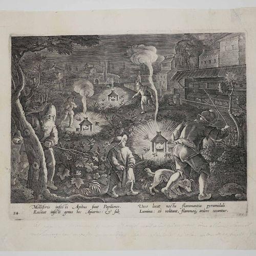 "STRADANUS Jan van der Straet, dit (d'après) (Bruges 1536 Florence 1605) ""Les pap…"