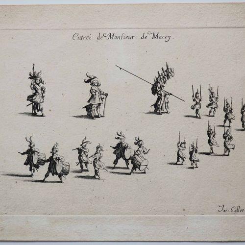 """CALLOT Jacques (Nancy 1592 1635) """"Entrée de Monsieur de Macey"""". Eau forte. Epreu…"""