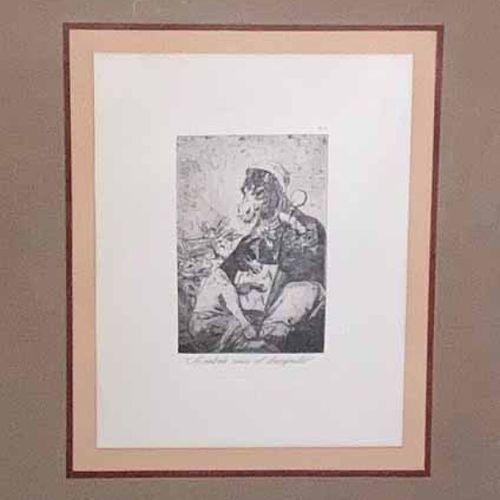 """GOYA Y LUCIENTES Francisco (1746 1828) 2 pl. LOS CAPRICHOS: """"Asta su Abuelo"""" & """"…"""