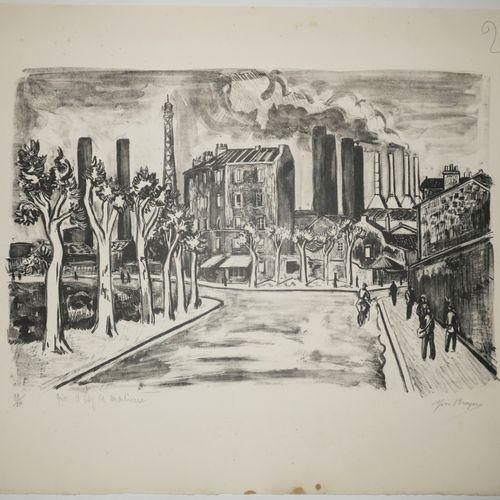 """BRAYER Yves (Versailles 1907 Paris 1990) """"Quai d'Issy les Moulineaux"""". C.1945. L…"""