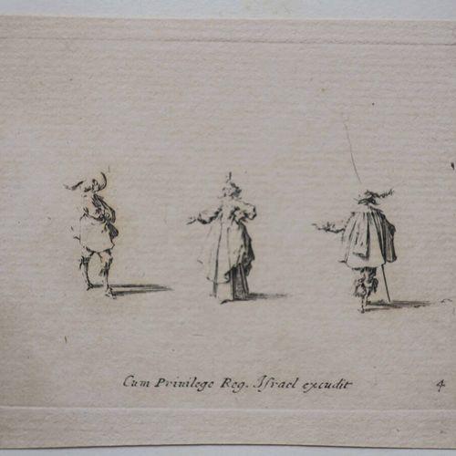 """CALLOT Jacques (Nancy 1592 1635) (d'après) """"Les Fantaisies. De Noble I. Callot. …"""