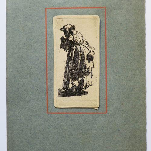 """REMBRANDT H. Van Rijn (1606 1669) """"La femme avec la calebasse"""" (Old beggar woman…"""