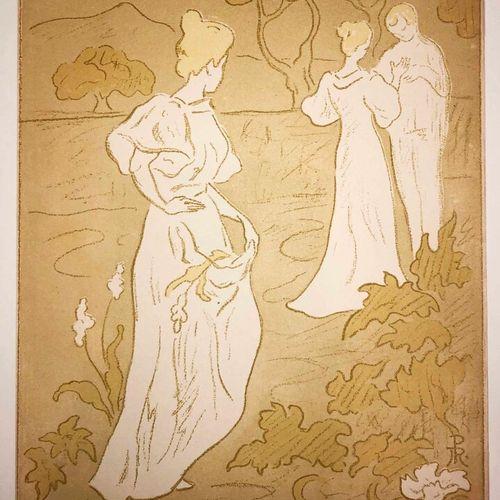 """RANSON Paul Elie (1861 1909) """"Tristesse ! ou Jalousie"""". 1896. Lithographie en co…"""