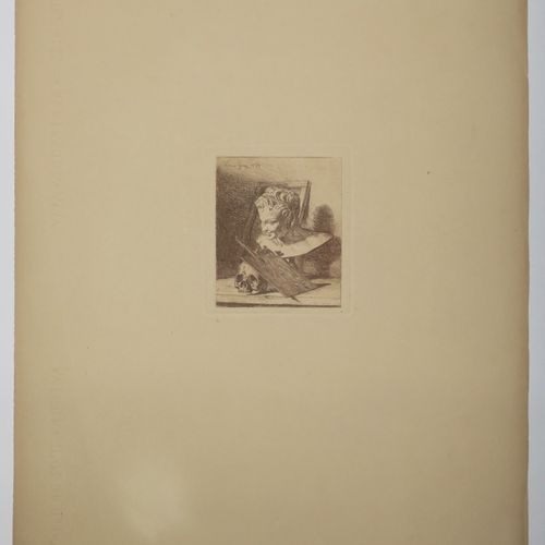 VANITÉ c.1854. Gravé à l'eau forte par Louis GIRY (XIXème). Imprimée en bistre s…