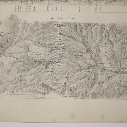 SAVOIE (73) TUNNEL DES ALPES (MODANE / Italie (BARDONNECHE) XIXème. Gravé par Du…