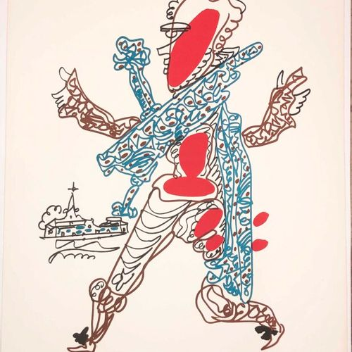 LAPICQUE Charles (1898 1988) [Personnages costumés]. Réunion de 3 lithographies …
