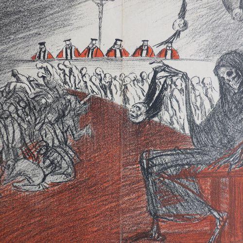 [Allégorie de la Mort]. 1902. Estampe en couleurs d'après Théophile Alexandre ST…