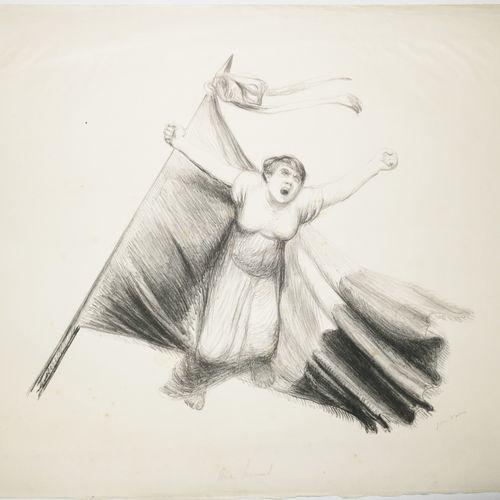 """VEBER Jean (Bordeaux 1758 Paris 1836) """"Aux armes!"""". 1914. Lithographie originale…"""