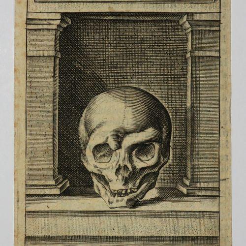 "VANITÉ ""Symbolum II / Promptitudo ad mortem"". C.1640. Gravé au burin par R. SADE…"
