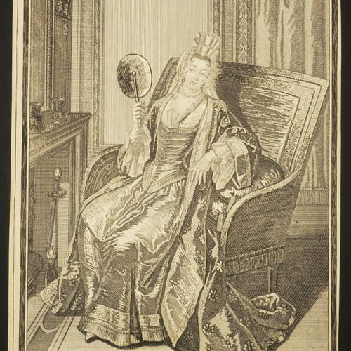 """ECRAN XVIIème """"Décembre"""". C.1660. Gravure à l'eau forte et au burin. Epreuve sur…"""