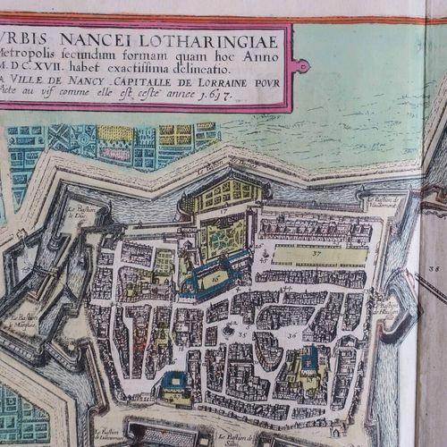 "MEURTHE ET MOSELLE (54) PLAN de NANCY BRAUN & HOGENBERG ""Urbis Nancei Lotharingi…"
