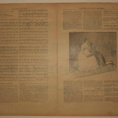 """OPTIQUE """"Le ZOOTROPE fantastique"""", d'après E. LEON DUFOUR. Imprimé en noir et ro…"""