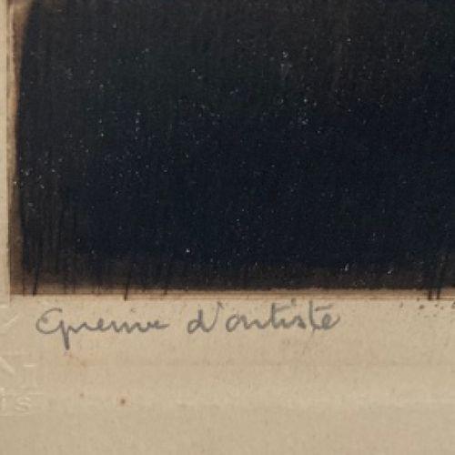 """ICART Louis (Toulouse 1888 Paris 1951) """"Conchita"""". 1929. Gravure originale à l'e…"""