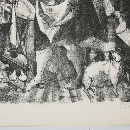 SALA (XX ème) [Femme à ses occupations]. Lithographie. Epreuve sur vélin, numéro…