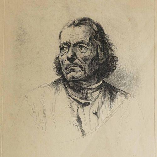 """BOISSIEU Jean Jacques de (Lyon 1736 1810) """"Portrait d'homme d'après Van Dyck"""" & …"""