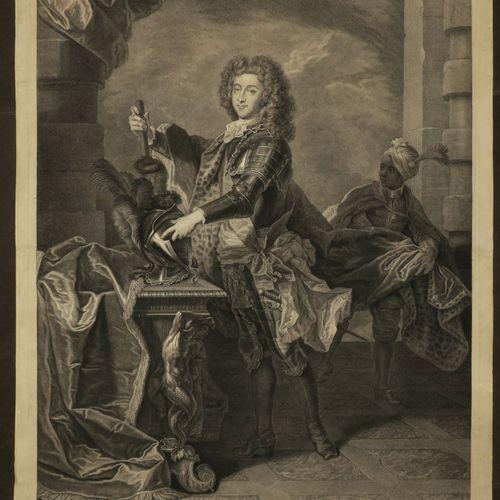 """DREVET Pierre (Lyon 1664 Paris 1739) """"Portrait de Louis de BOURBON, PRINCE DE CO…"""