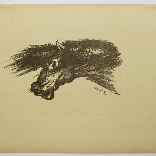 """ESPAGNAT Georges d' (Paris 1870 1950) """"Étude"""". 1895. Lithographie originale, imp…"""
