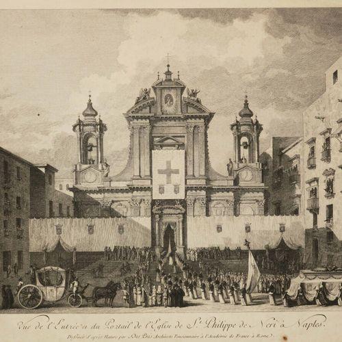 """ITALIE NAPLES """"Vue de l'Entrée et du Portail de l'Eglise de St Philippe de Néri …"""