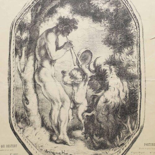 """ANQUETIN Louis (1861 1932) """"Programme pour le Théâtre Antoine, Saison 1897 1898.…"""