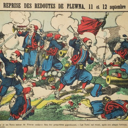"""RUSSIE / BULGARIE """"Prise et Reprise des redoutés de PLEWNA (Plevna), 11 et 12 se…"""