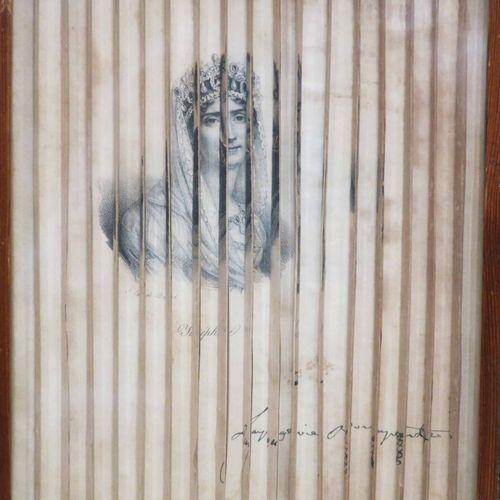 OPTIQUE XIXème [PORTRAITS de Joséphine, Napoléon & Eugène], montés en effet d'op…