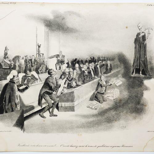 """TRAVIÈS de VILLERS Charles J. (1804 1859) """"Vieillards, votre heure est venue!...…"""