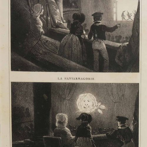 """OPTIQUE """"Les OMBRES CHINOISES & LA FANTASMAGORIE. XIXème. Lithographie sur vélin…"""