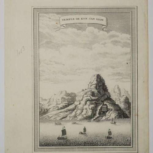 """SIAM THAILANDE Vue du """"Temple de KON JAN SIAM"""". XVIIIème. Gravure. Papier vergé.…"""