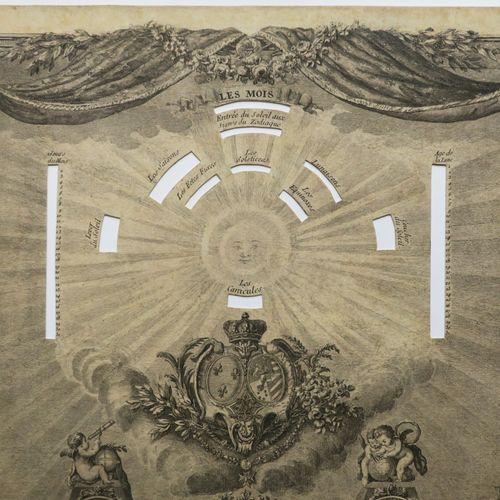 """LEQUIN (Actif au XVIIIème). """"Almanach pour 30 ans dédié à la Reine"""". 1775. Gravu…"""