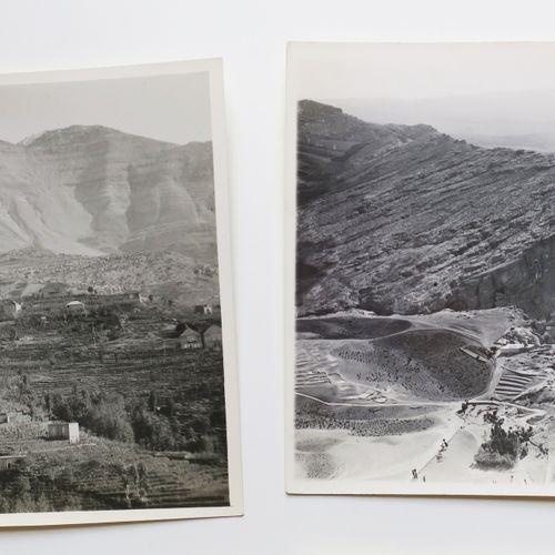 LIBAN Réunion de 7 PHOTOS ANCIENNES (XX ème) dont Le cours du ABOU ALY, Liban No…