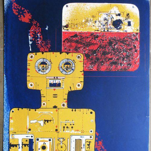 """VIELFAURE Jean Pierre (Alger 1930 Ivry sur Seine 2015) """"Lithographie n°24"""". Lith…"""