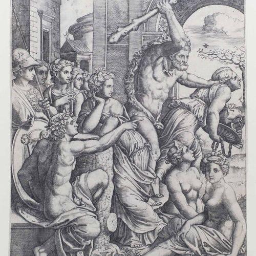 """MAÎTRE AU DE (actif à Rome, vers 153060) """"L'Envie expulsée du Temple des Muses p…"""