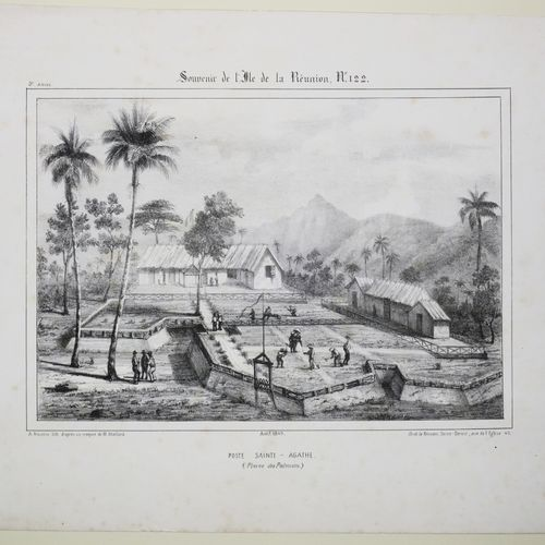 """LA REUNION A. ROUSSIN """"POSTE SAINTE AGATHE (Plaine des Palmistes)"""". Août 1849. L…"""