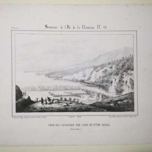 """LA REUNION A. ROUSSIN """"Fond des CASCADES, Vue prise du PITON ROUGE (SAINTE ROSE)…"""